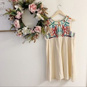 NWT Anthro Gryphon Sunny Embroidered Dress